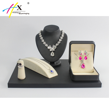 New Design Jewelry Display Stand Leather Counter Jewellery Display Custom Jewelry Stands And Displays