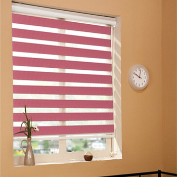 China Roller Blind With Double Layers Sheer Fabric Living Room Zebra ...