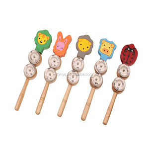 New small baby toys china wholesale metal jingle stick bell toy,Musical jingle stick Instrument