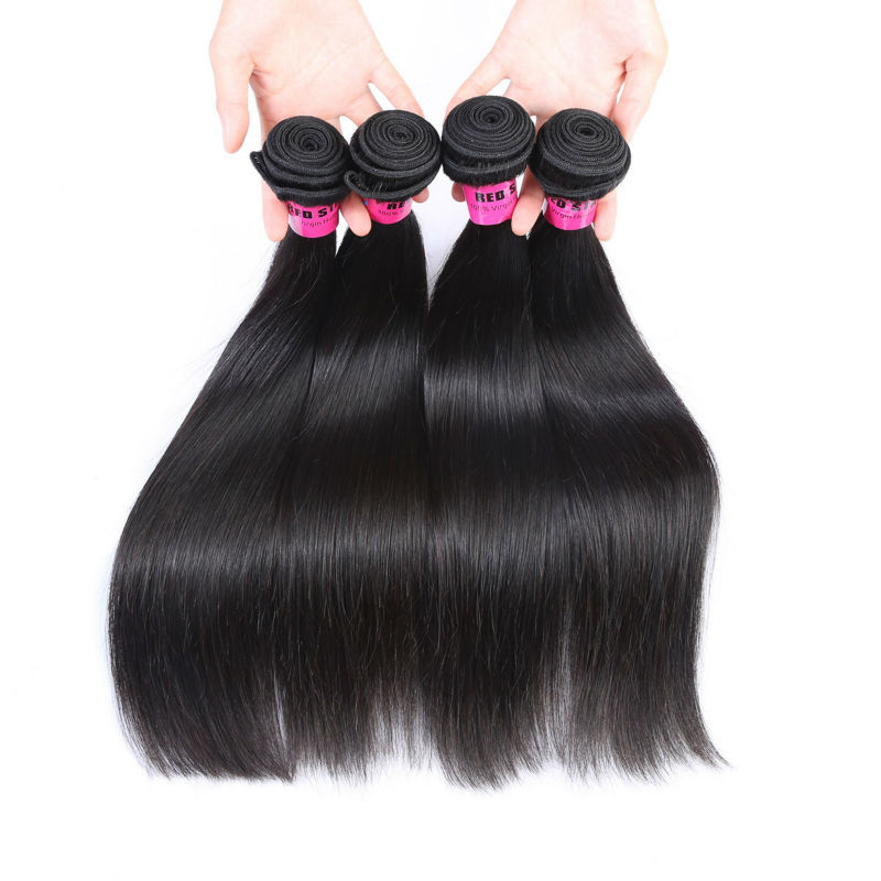 Buy 7a Unprocessed Human Hair Weave 4 Bundles Silky Straight Hair