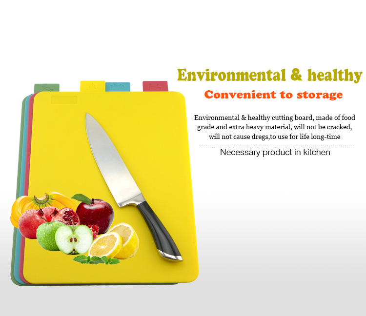 Four Colors Large Classified Clean Vegetables Cutting Board