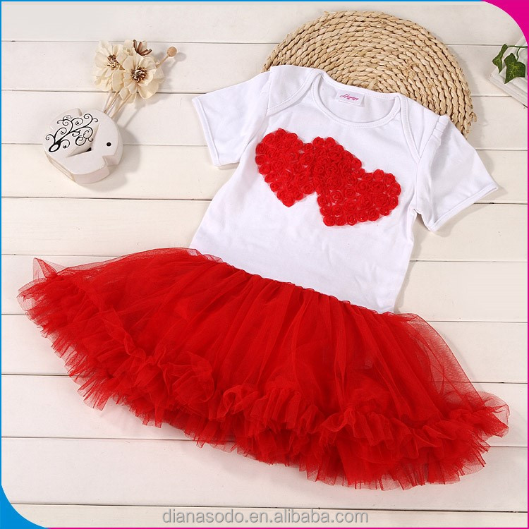 Cotton Girl 2016 Baby Dress Pictures Cutting New Style Designs Girls Modern Child Summer Party Nice Frill Dress For Baby Girl