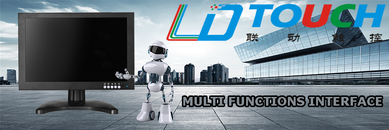 LDTOUCH 15 นิ้วเปิดกรอบ capacitive touch screen monitor VGA DVI touch monitor