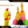 promotional squeaky rubber chicken for dog toy