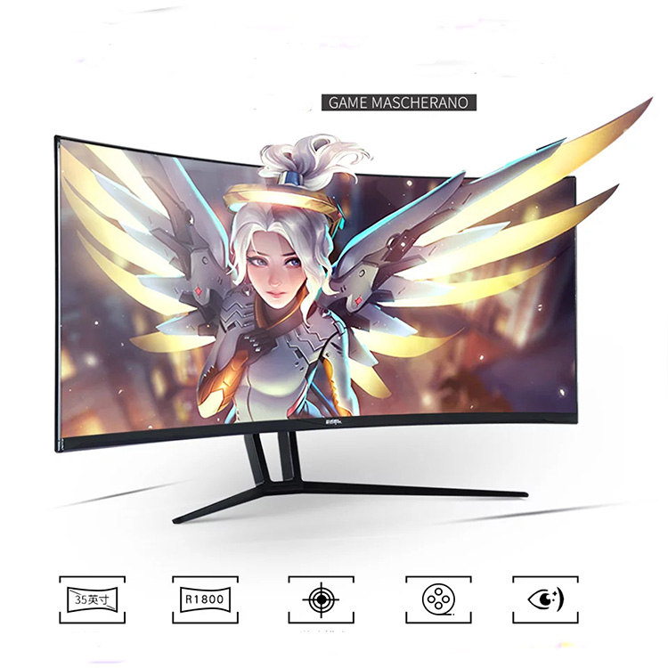 200Hz! 4K  ultra-wide curved monitor 35 inch gaming monitor DP hd mi