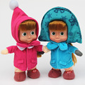 27cm Popular Masha and Bearv winter Plush Dolls High Quality Russian Martha Marsha PP Cotton Toys