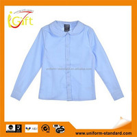 2014 Competitive price cotton poly blend New design wholesale private school clothes