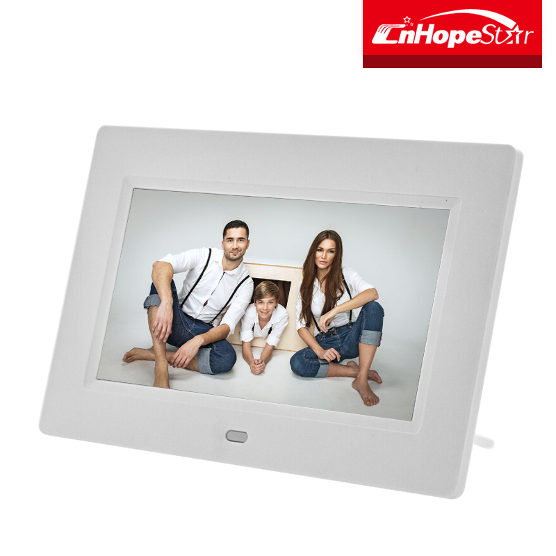 Wall hanging cute 7 inch digital photo frame with ce rohs certificate