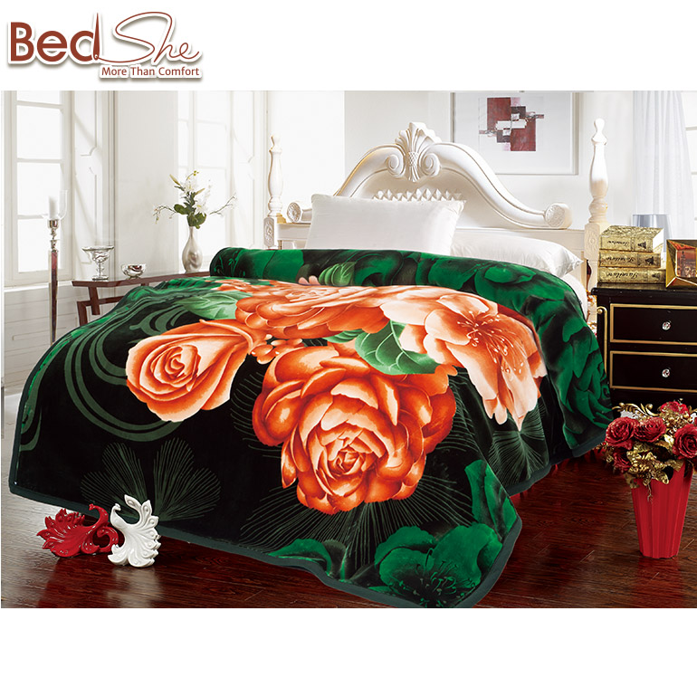 Hot selling Korean Style 220X240cm Embossed polyester blanket