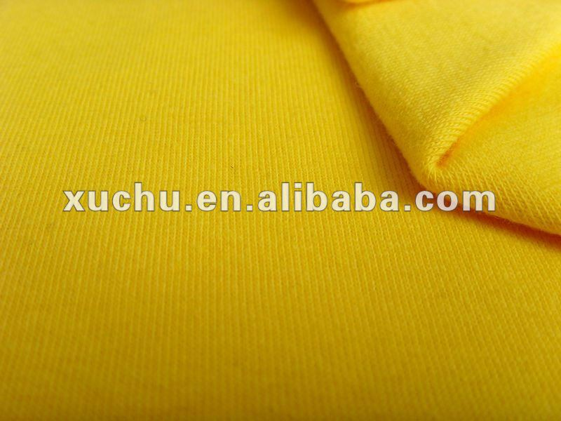 Spun Poly spandex 95%Polyester 5%Spandex Plain Dyed French Terry Knitted Fabric