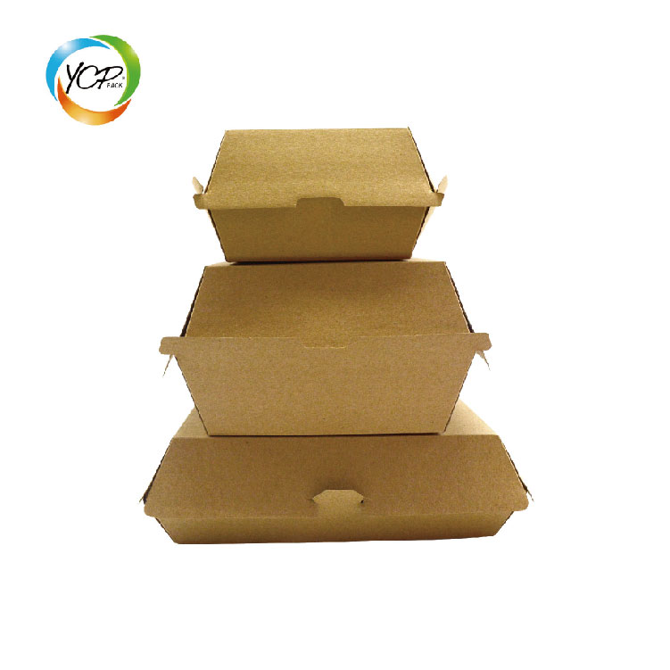 100% compostable eco friendly Disposable printing foldable food grade paper burger box