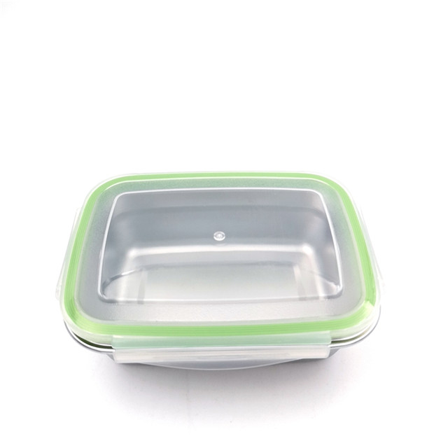 Dishwasher safe Reusable Stainless Steel Lunch Box Rectangular Food Container Crisper PBA Free leakproof lunch box
