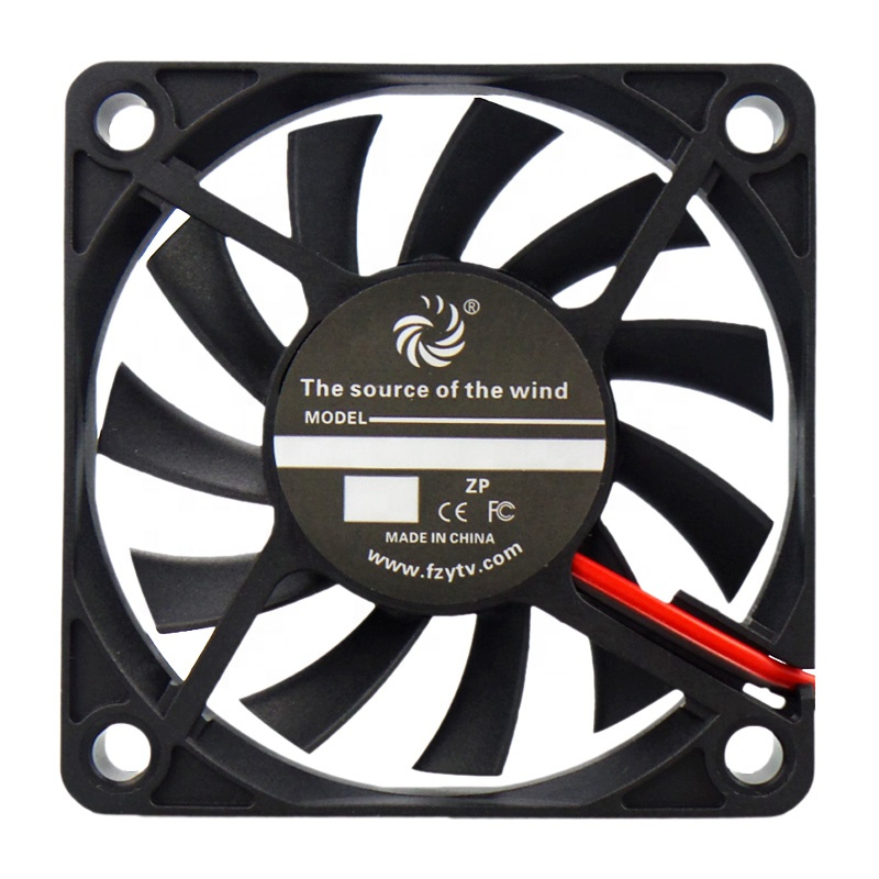 Fireproof environmentally friendly 2pin 5v 12v 18v 24v mini 60mm 60x60x10mm fan 60x60