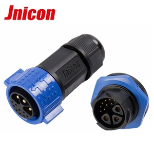 Power waterproof connector IP67 industrial plug and socket 22 pin high-current 50A
