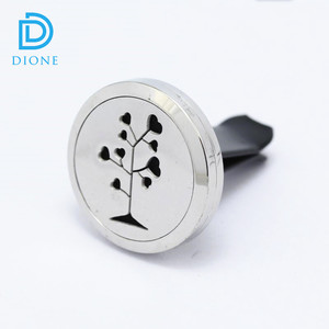 Fashion Tree Aromatherapy car essential oil locket stainless steel diffuser locket perfume necklace pendant