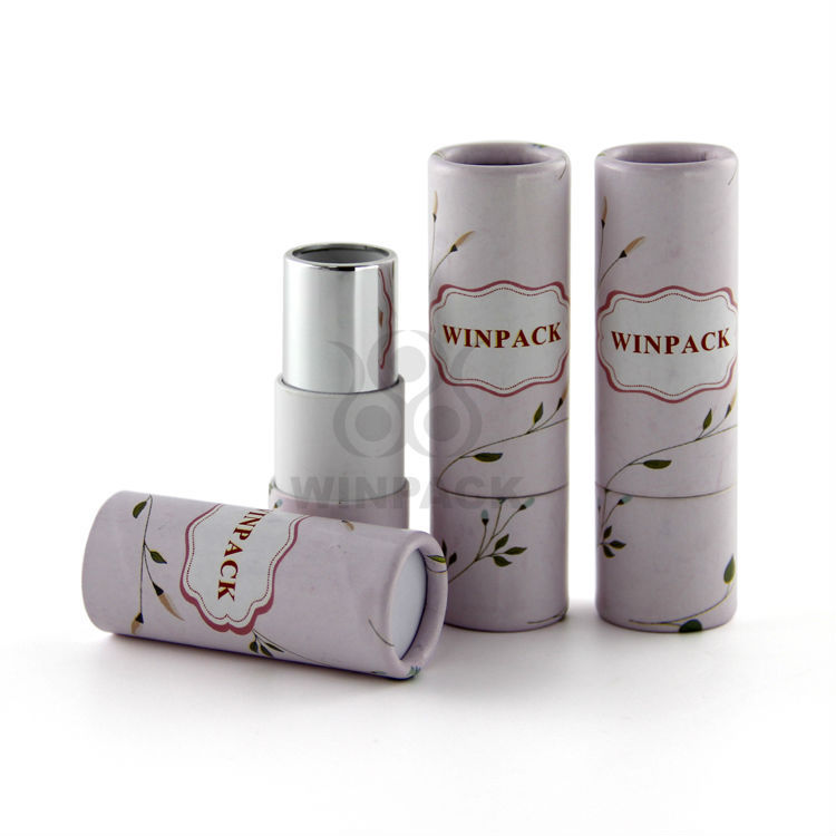 Delicate Pink Mini Paper Cardboard Paper Tube for Lipsticks Lip Balm Lip Repair