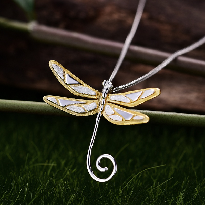 Fashion cute design 925 silver dragonfly <strong>pendant</strong>