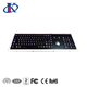 Panel mount black industrial or kiosk keyboard with trackball,Function keys and number keypad
