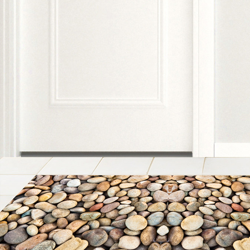 DB005 Full Color Cobblestone Skid Resistance 3D Floor Stickers Laminate