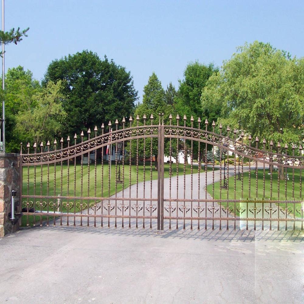 Single Wrought Iron Driveway Gate Design, Single Wrought Iron ...