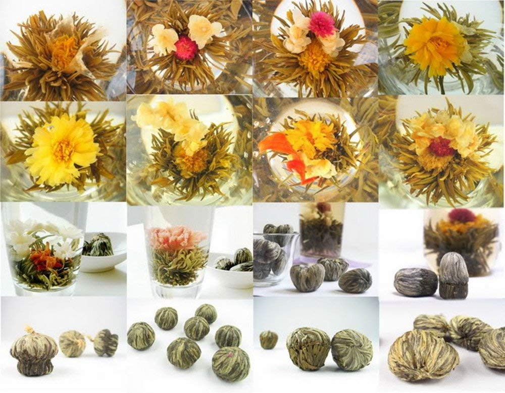 Moyishi 20PCS Random Kinds Flower Blooming Teas