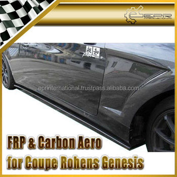 For Hyundai Genesis Coupe 09 Carbon Fiber Side Skirt Add On