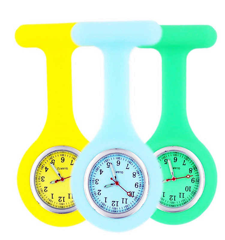 Wholesale high quality silicone nurse watch, Japan movt quartz watch for nurse