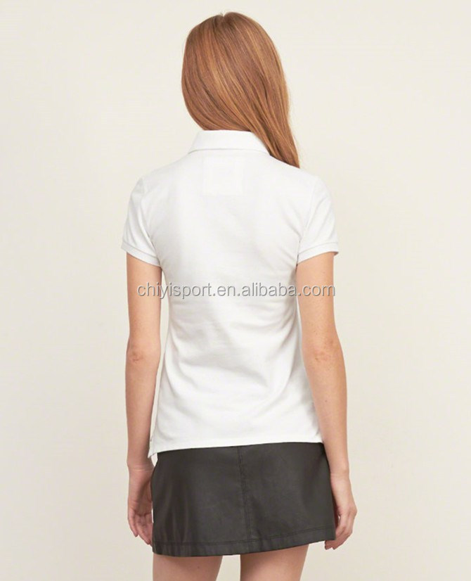 Custom 100 Cotton Dry Fit Ladies Wholesale Golf Polo