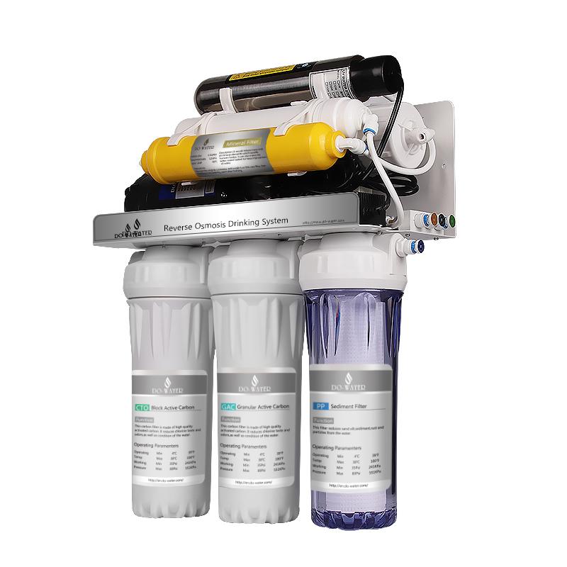 Migliore qualità alcalina acqua ad osmosi inversa sistema di filtraggio per uso domestico 7 fase depuratore