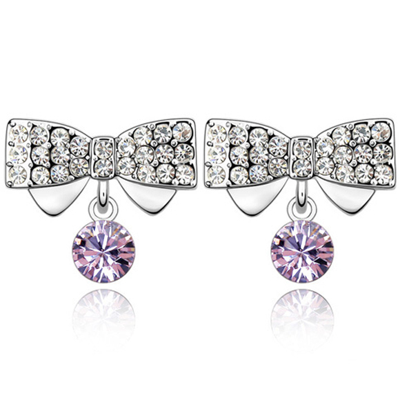 fashion cute made with swarovski element crystal dream butterfly sweet stud <strong>earring</strong>