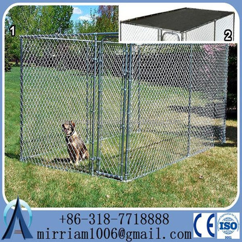 2015 popular heavy duty black dog kennels two doors large animal cage/ dog cages/ pet kennels