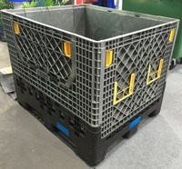 industrial stackable storage wire mesh plastic containers for sale
