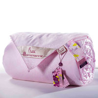 Super king size natural 100% mulberry silk bed duvet with cotton cover