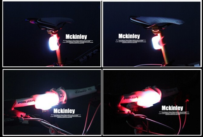 fiets lamp verlichting rockbros front stuur mtb mountainbike racefiets zadelpen fiets achter verlichting accessoires 4 kleuren