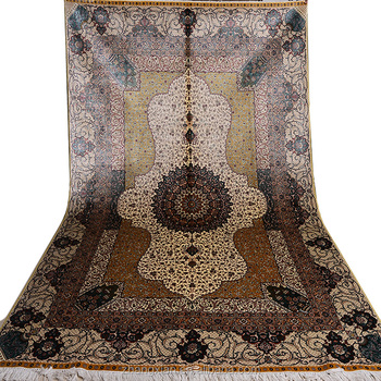 Chinese handmade silk rug Persian style carpet hand knotted silk rugs and carpet