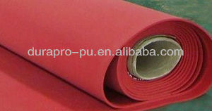 Soft 40A red rubber sheet, rubber sleeve