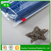 own factory plastic poly ziplock bags for apparel with low price