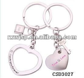 Lovely A Couple of Key & Heart fashion metal key chain