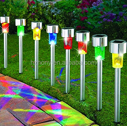 8Pack 4Color Stainless Steel Outdoor Solar Lights for Walkway Sogrand Solar Pathway Lights Solar Garden Lights Solar Walkway