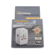 All in One 2 USB Port Swivel World AC Power Universal Travel Adapter