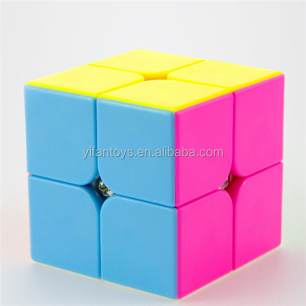 YJ8309 2 Layers Yupo Mini Stickerless Yongjun Magic Cubes 2x2 DIY Toys