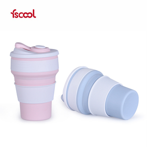 Factory OEM Cheap Price Silicone Collapsible Cup/Mug With Lid