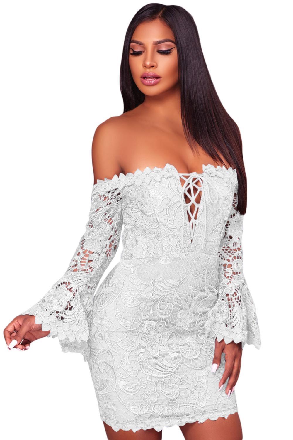 2018 otoño e invierno noche Club barra cuello Sexy Mini vestido de ...