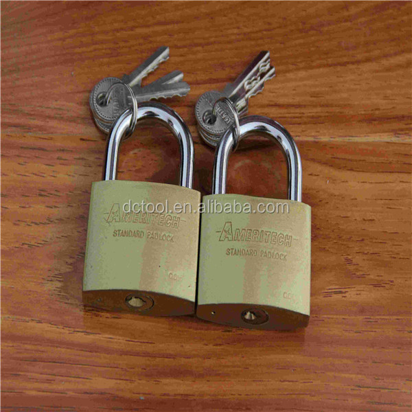 Wrapped Brass Padlock with 3 keys with master key