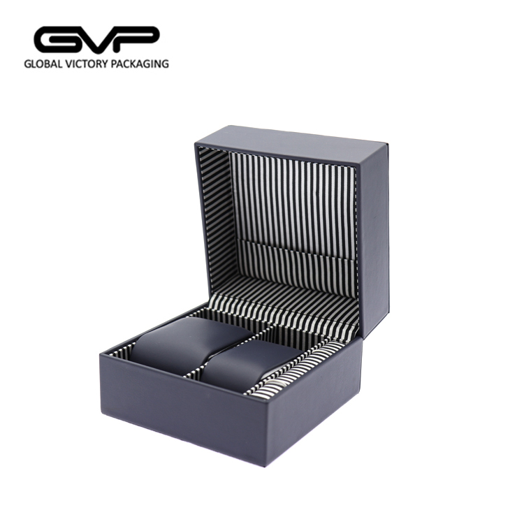 Benutzerdefinierte PU Leder 2 Slots Paar Watch Box Packaging