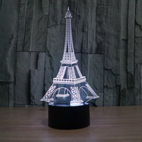 FS-2821 Famous Eiffel 3D Effect Desk Light Travel Souvenir Gift