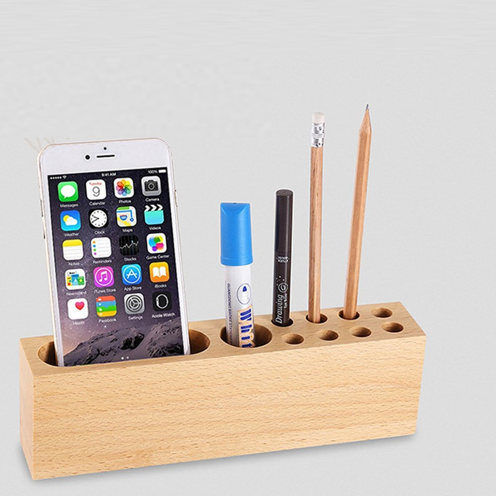 Trista99 Natural Wood Cell Phone Stand, Wooden Dock Stand Holder for iPhone 7,7plus,6 6 Plus Samsung Galaxy S7/ S6/ S6 Edge Google Nexus, Lumia,THC,LG,Huawei and Smartphones