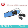 car reverse parking camera kit with DVR rear view mirror