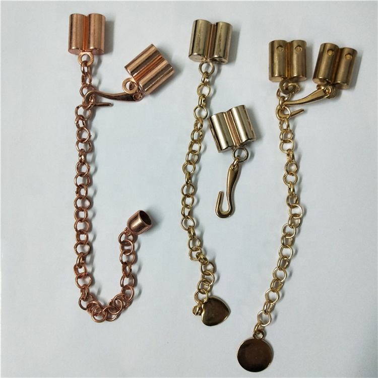 Single double three hole metal belt hook buckle belt chain pendant accessories