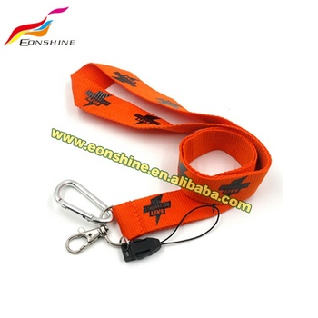 Eco Friendly Custom id Card Holder with Lanyard Polyester Silk Screen Printing Flat
